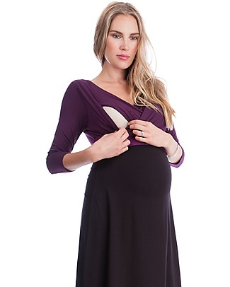 Seraphine Adelaide - Maternity and Nursing Dress - Berry Dresses