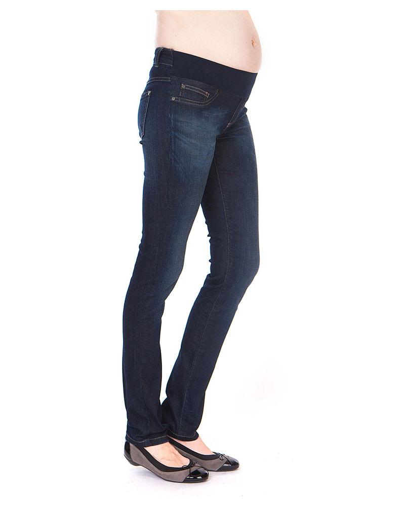 Seraphine Ami Maternity Slim Leg Jeans - Vintage Indigo Blue woman