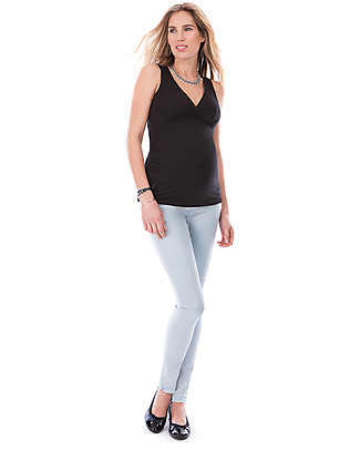 Seraphine Apple, Maternity and Nursing Top, Black - Viscose Cami