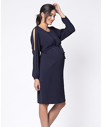 9dadd6af4f9 Seraphine Brielle Cold Shoulder Maternity and Nursing Dress - Navy Dresses  ...