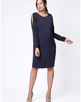 Seraphine Brielle Cold Shoulder Maternity and Nursing Dress - Navy Dresses