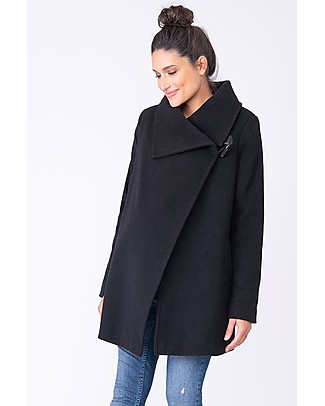 Seraphine Clarence Coat Wool and Cashmere, Black Coats