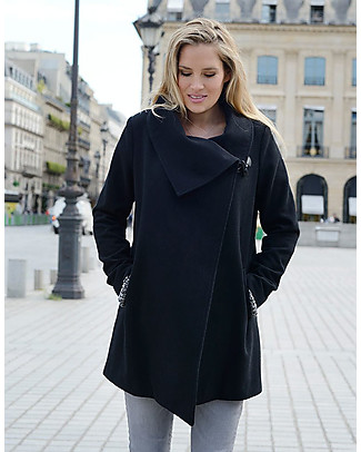 Seraphine Clarence Coat Wool and Cashmere, Black null