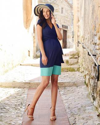 Seraphine Colour Block Enja Maternity / Nursing Dress - Navy Blue and Aqua! Dresses