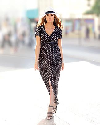 Seraphine Daisy, Woven Wrap Dress, Black/White - 100% soft viscose Dresses