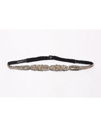 Seraphine Diamante - Embellished Maternity Belt - Metallic Grey Belts