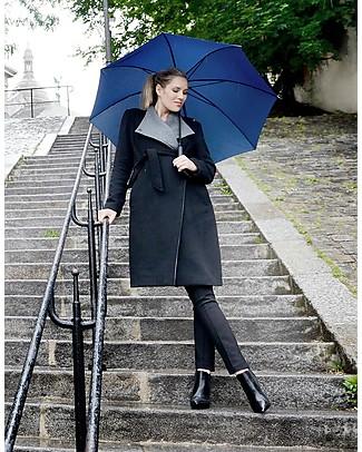 Seraphine Donatella, Wool and Cashmere Maternity Coat, Charcoal Black Coats