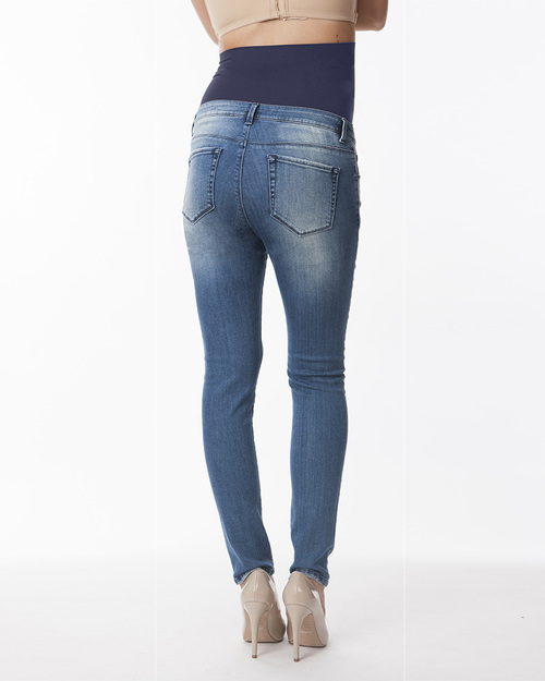 Seraphine Gracie Over the Bump Faded Skinny Jeans Maternity Jeans