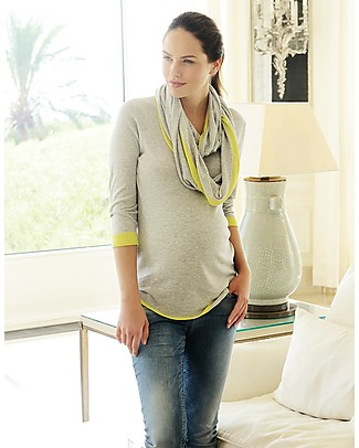 Seraphine Harlow, Pregnancy and Nursing Jumper with Detachable Snood – Cotton! Jumpers
