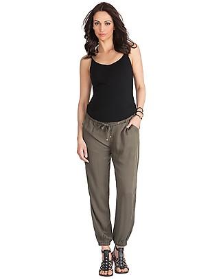 Seraphine Harmony, Harem Maternity Trousers, Khaki - 100% Viscose Trousers