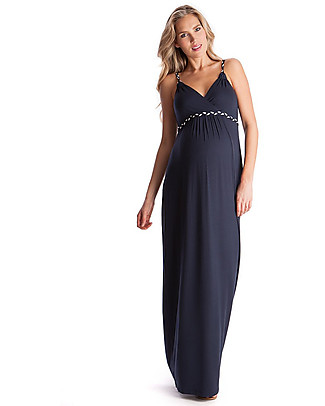 Seraphine Jemima, Plaited Strap Maternity Maxi Dress - Navy Dresses