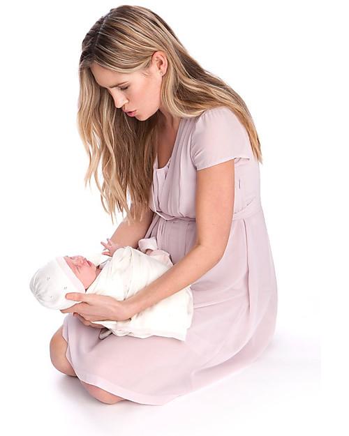 906a9842b47ec Seraphine Jodie - Chiffon Maternity / Nursing Dress - Blush Pink Dresses