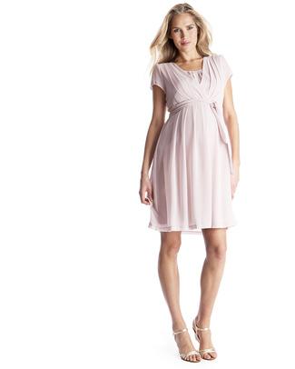 Seraphine Jodie - Chiffon Maternity / Nursing Dress - Blush Pink Dresses