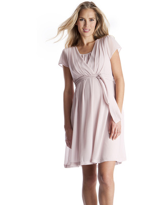Seraphine Jodie - Chiffon Maternity / Nursing Dress - Blush Pink Dresses