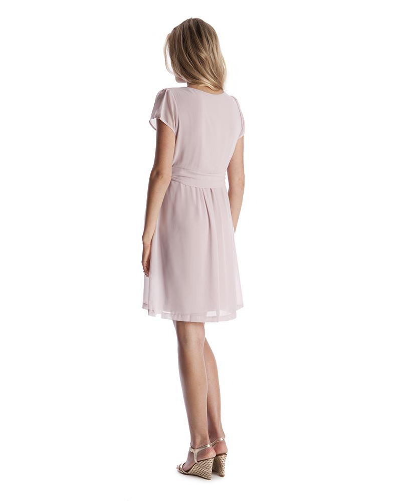 37be7493156 Seraphine Jodie - Chiffon Maternity   Nursing Dress - Blush Pink Dresses