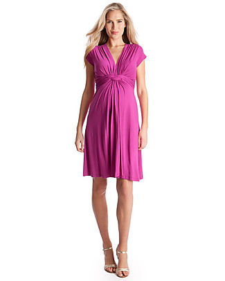 Seraphine Jolene Knot front Maternity Dress - Fuschia (chosen by Kate Middleton) Dresses