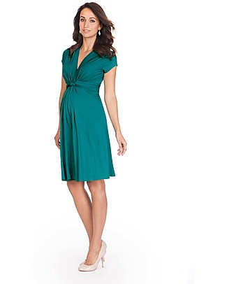 Seraphine Jolene - Knot front Maternity Dress - Peacock (elegant and versatile!) Dresses