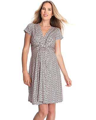 Seraphine Jolene - Knot front Maternity Dress - Pink/Polka Dots (elegant and versatile!) Dresses