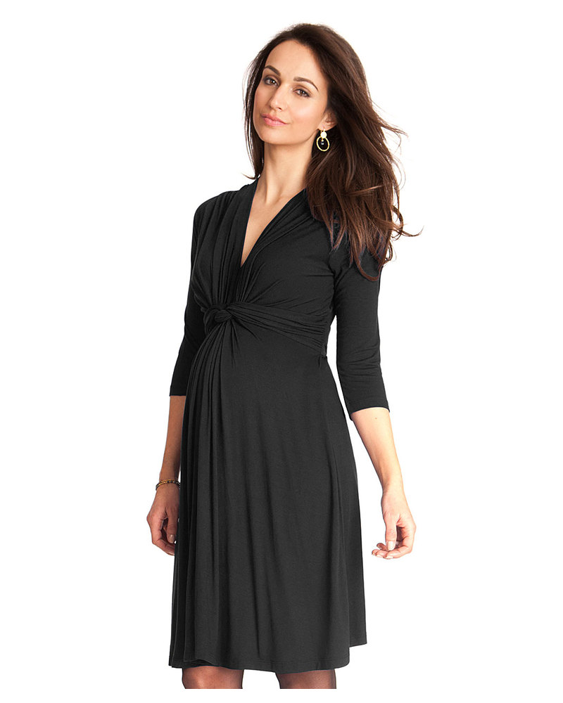 Seraphine jolene maternity dress with knotted front sleeves seraphine jolene maternity dress with knotted front sleeves black dresses ombrellifo Choice Image