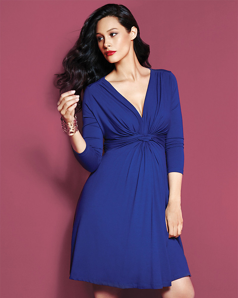 Seraphine jolene maternity dress with knotted front sleeves seraphine jolene maternity dress with knotted front sleeves dark blue dresses ombrellifo Choice Image