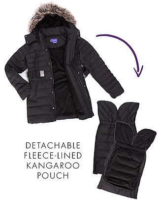 Seraphine Kingston, Maternity + Baby Carrying Down Short Coat 3 in 1, Black - Idea before and after pregnancy! Coats