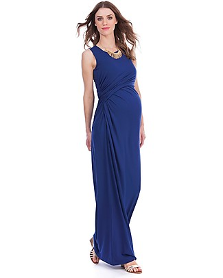 Seraphine Lexington, Nursing and Maternity Maxi Dress, Ink - Ultra soft viscose Dresses