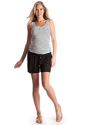 Seraphine Luna, Maternity and Nursing Top, Striped Blue - Bamboo! T-Shirts And Vests