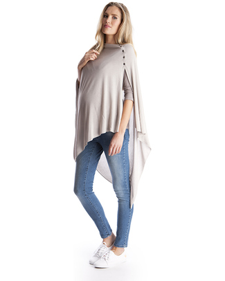Seraphine Madison Bamboo Summer Nursing Shawl - Latte! Scarves And Shawls