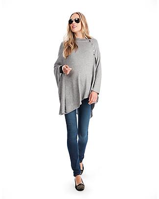 Seraphine Madison - Grey Nursing Shawl - Bamboo + Wool (cozy, comfortable and multifunctional) null
