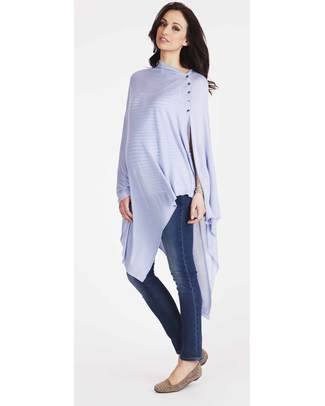 Seraphine Madison - Nursing Shawl Ice Blue - Bamboo Scarves And Shawls