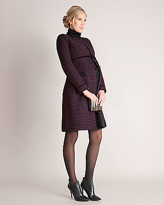 Seraphine Marina Maternity Coat in elegant Bouclé – Purple (chosen by Kate Middleton) Coats