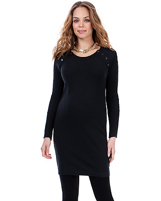 Seraphine Maternity and Nursing Rita Knitted Dress - black Dresses