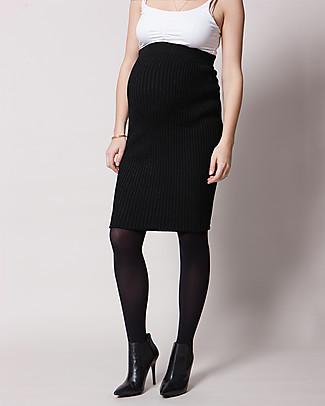 Seraphine Maternity Rib Skirt Mila in Soft Viscose- Black Skirts