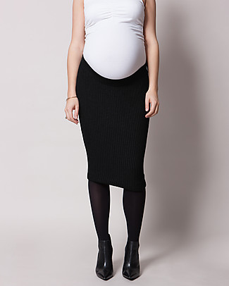 Seraphine Maternity Rib Skirt Mila in Soft Viscose- Black Skirts