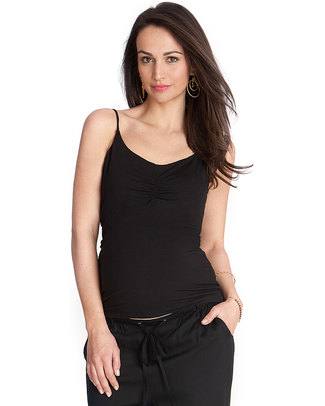 Seraphine Maternity Vest Top with secret support Lilli - Black T-Shirts And Vests