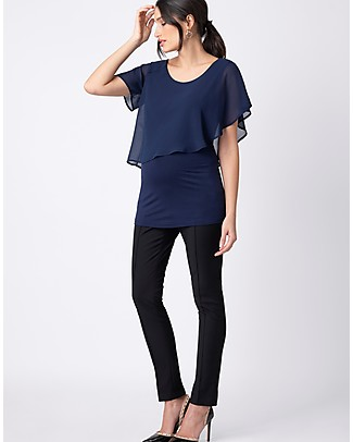 Seraphine Meredith, Flutter Maternity and Nursing Top - Navy Evening Tops