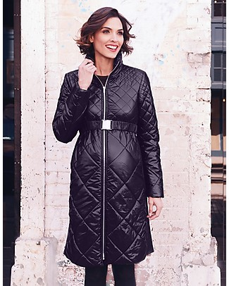 Seraphine Nina - Diamond Down Maternity Coat - Black Coats
