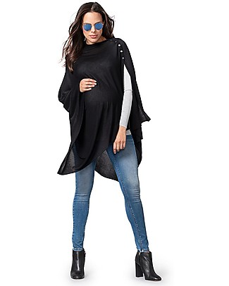 Seraphine Nursing Madison Shawl, Black - 100% Bamboo null