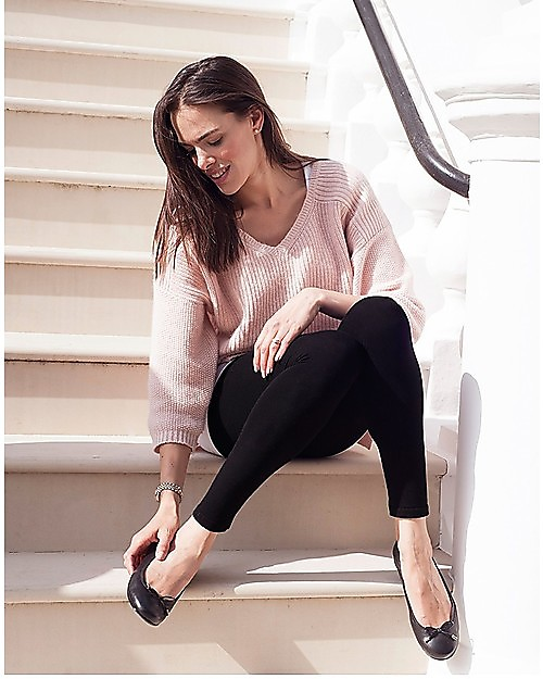 Seraphine Outlet Tammy Under Bump Bamboo Maternity Leggings New Model Black For An Active Lifestyle Showroom Sample Size M Woman