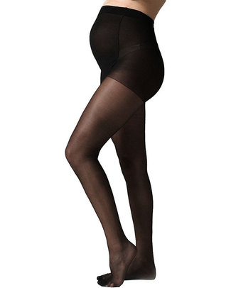 Seraphine Over-Bump Maternity Tights 40 Denier Matte Black (extra support) Tights