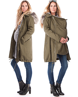 Seraphine Penelope Maternity + Baby Carrying Parka 3 in 1- Ideal before and after baby! Jackets