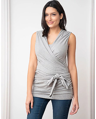 Seraphine Skin To Skin Babywear Sleeveless Winfrid Top, Grey Evening Tops