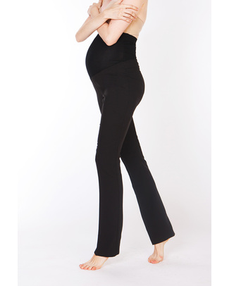 Seraphine Sofia Straight Leg Over-Bump Maternity Trousers - Black Trousers