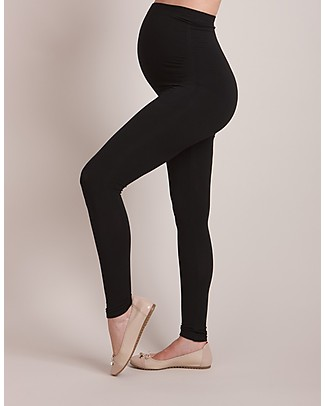 Seraphine Tammy OverBump Bamboo Maternity Leggings - Black Leggings