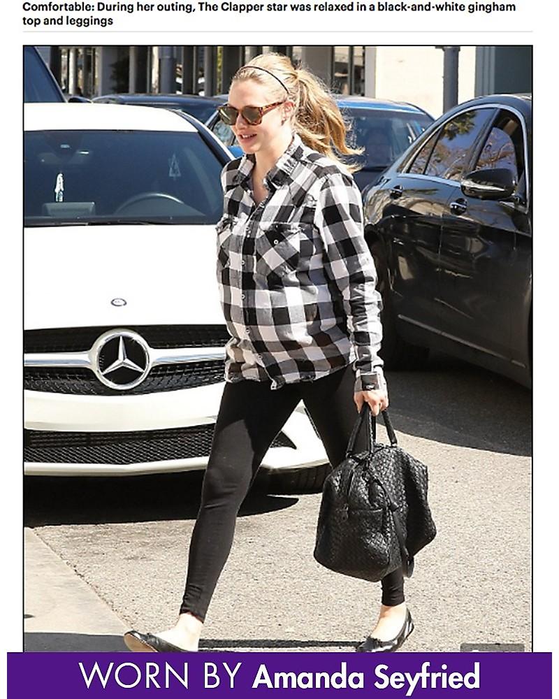 2fb69eb7ba4be Seraphine Tammy OverBump Bamboo Maternity Leggings - Black Leggings