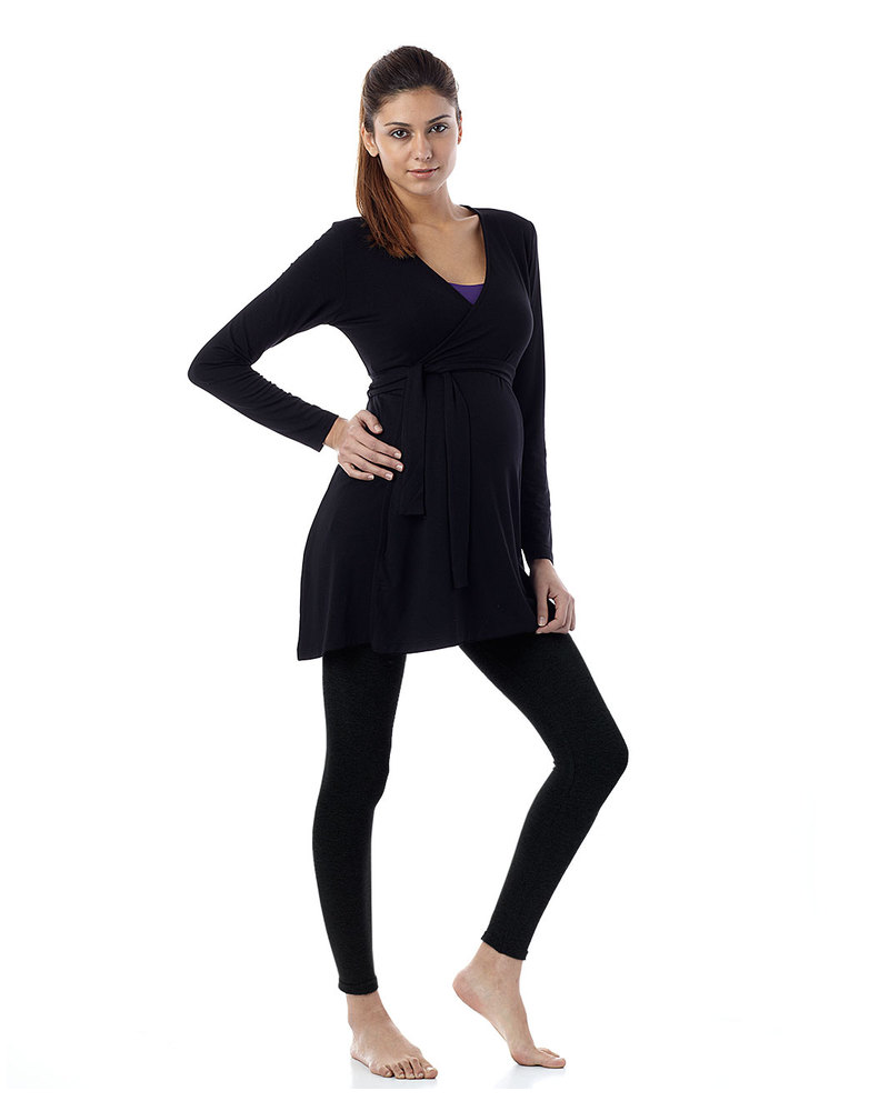 bd3ce3c07fc63 Seraphine Tammy Under-Bump Bamboo Maternity Leggings - Black (for an active  lifestyle!