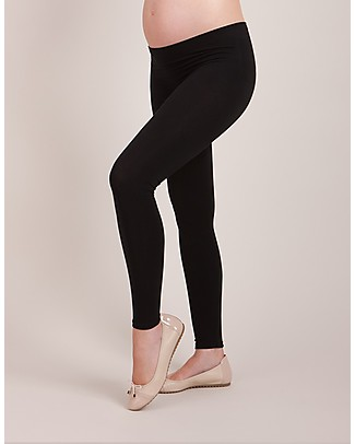 Seraphine Tammy Under-Bump Bamboo Maternity Leggings New Model! - Black (for an active lifestyle!) Leggings