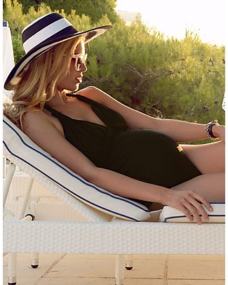 Seraphine Uma, Maternity Halterneck Swimsuit - Black Swimsuits