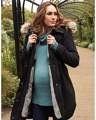 Seraphine Valetta Maternity + Baby Carrying Premium Parka 3 in 1, Black - Ideal before and after baby! Jackets