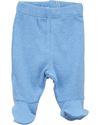 Serendipity Organics Pre Pants with feet - Blue Trousers